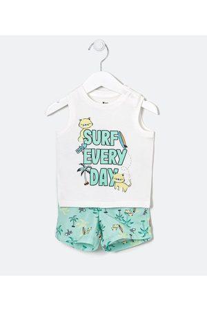 Teddy Boom (0 a 18 meses) Criança Conjuntos - Conjunto Infantil Gatinho Surf - Tam 0 a 18 meses     Multicores   6-9M