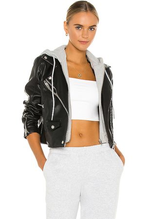 BLANK NYC X REVOLVE Twofer Vegan Leather Moto Jacket in Black. - size M (also in S, XS)