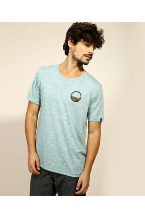 "Suncoast Camiseta Masculina Classic Surfing"" Manga Curta Gola Careca Claro"""