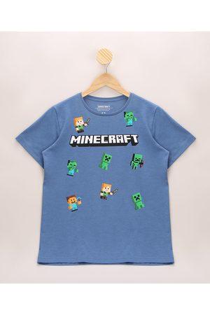 Minecraft Camiseta Infantil Manga Curta Gola Careca