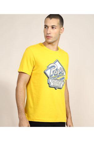 Warner Bros Camiseta Masculina Estampada Gilmore Girls Manga Curta Gola Careca Amarela