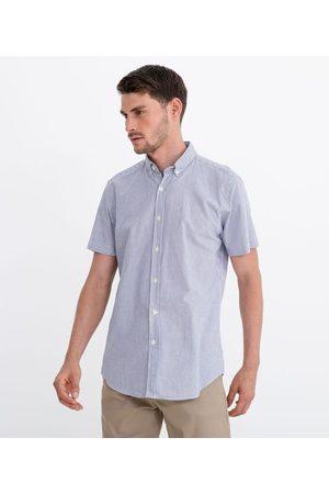 Preston Field Homem Camisa Manga Curta - Camisa Manga Curta Comfort Oxford em Padronagem Listrada | | | 03
