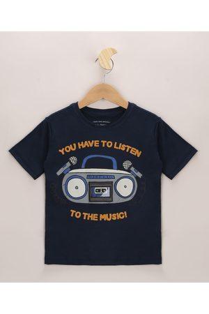 "PALOMINO Camiseta Infantil To The Music"" Manga Curta """
