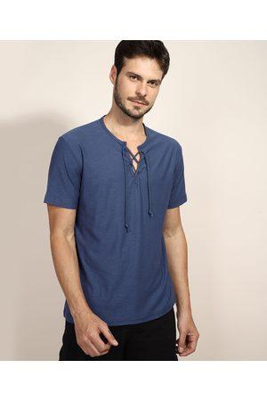 Suncoast Camiseta Masculina com Amarração Manga Curta Gola V