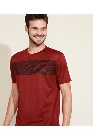 ACE Homem Manga Curta - Camiseta Masculina Esportiva com Estampa Geométrica Manga Curta Gola Careca