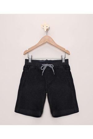 PALOMINO Menino Bermuda - Bermuda Jeans Infantil com Cordão Escuro