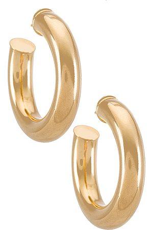 Martha Calvo Mulher Brincos - Tubular Hoops Earrings in Metallic .