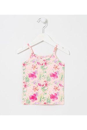 Póim (1 a 5 anos) Blusa Infantil Alças Floral - Tam 1 a 5 anos       03