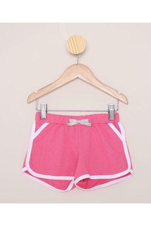 PALOMINO Short de Moletom Infantil Running com Glitter Pink