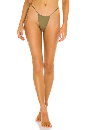 Monica Hansen Beachwear That 90's Vibe Bikini Bottom in Olive. - size L (also in M, S, XS)
