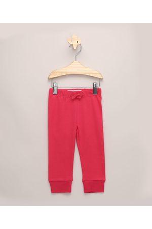 BABY CLUB Calça Infantil Jogger Básica Pink