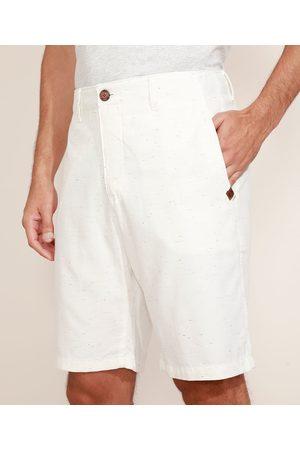 Suncoast Homem Bermuda - Bermuda de Sarja Masculina Reta Chino Off White