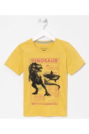 Fuzarka (5 a 14 anos) Camiseta Infantil Dinossauro e Tubarão - Tam 5 a 14 anos | | | 11-12