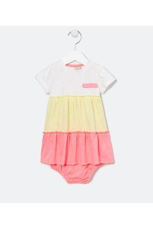 Teddy Boom (0 a 18 meses) Vestido Infantil Recorte Maria Neon com Calcinha - Tam 0 a 18 meses | | Multicores | 6-9M