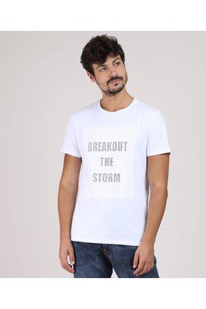 "AL Contemporâneo Camiseta Masculina Breakout the Storm"" Manga Curta Gola Careca Branca"""