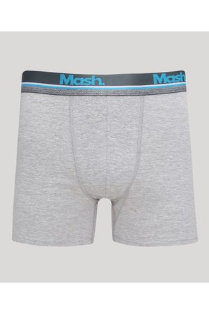 Mash Cueca Masculina Boxer Mescla Claro