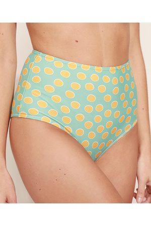 Suncoast Biquíni Calcinha Hot Pant de Poá com Proteção UV50+ Verde Claro