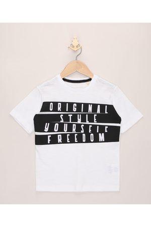 "PALOMINO Camiseta Infantil Original Style"" Manga Curta Off White"""
