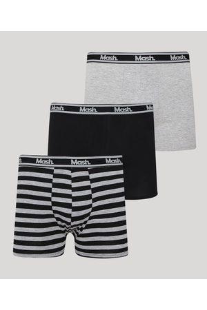 Mash Kit de 3 Cuecas Masculinas Boxer Multicor