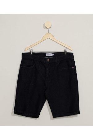Clockhouse Bermuda Jeans Masculina Básica Slim com Bolsos Escuro