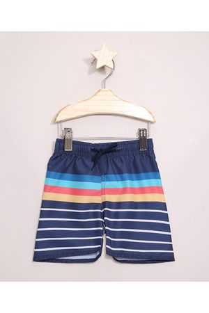BABY CLUB Menino Bermuda - Bermuda Surf Infantil Listrada Azul