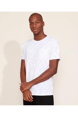 Basics Homem Manga Curta - Camiseta Unissex com Bolso Manga Curta Gola Careca Branca