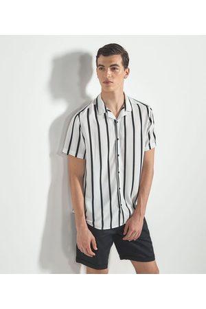 Request Homem Camisa Formal - Camisa Listrada com Botões | | | M