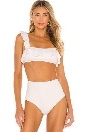 Eberjey So Solid Jane Bikini Top in White. - size L (also in XS, S, M)