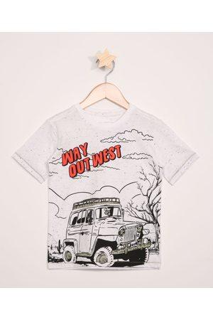 """PALOMINO Camiseta Infantil Botonê Way out West"""" Flocada Manga Curta Off White"""""""