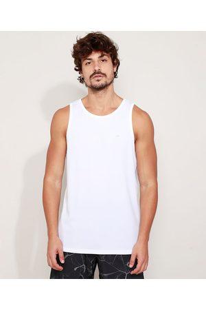 ACE Homem Camiseta - Regata Masculina Esportiva Básica Gola Careca Branca