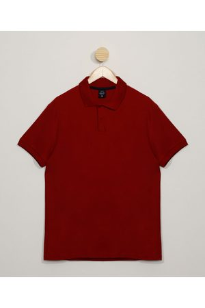 Basics Homem Camisa Pólo - Polo Masculina Básica Comfort Manga Curta Vinho