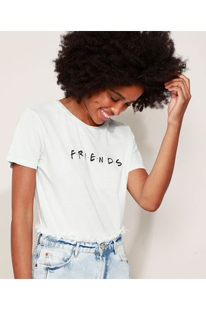 Warner Bros Camiseta Feminina Friends Manga Curta Decote Redondo Claro