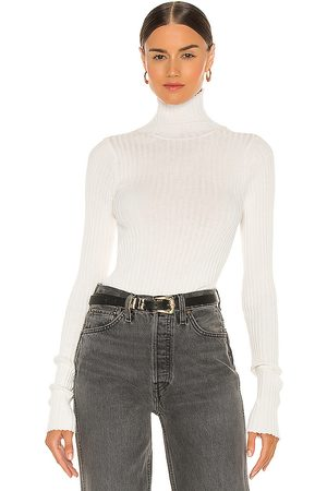 ANINE BING Clare Knit Top in White. - size L (also in M, S, XS)