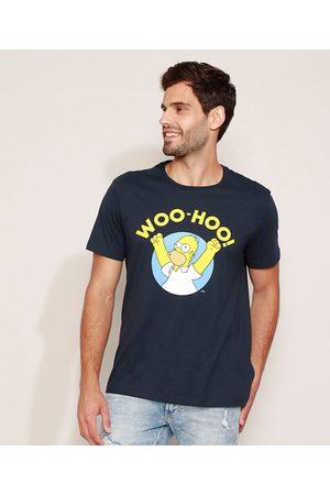 Os Simpsons Camiseta Masculina Homer Simpsons Manga Curta Gola Careca