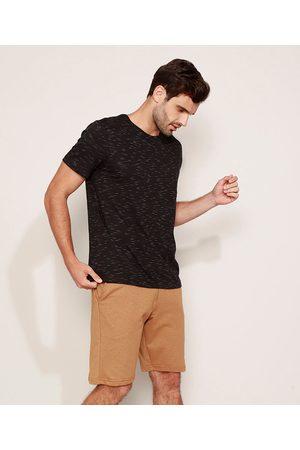 Basics Camiseta Masculina Básica Manga Curta Gola Careca Preta