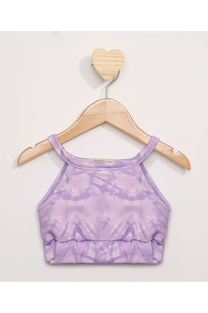 PALOMINO Regata Cropped Infantil Estampada Tie Dye Multicor Lilás