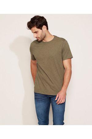 Basics Homem Manga Curta - Camiseta Masculina Básica Manga Curta Gola Careca Militar