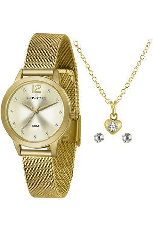 Lince Mulher Pulseiras - Kit Relógio Feminino Lrgh141l Ky25c2kx Analógico 50M + Conjunto de Semijoias | | | U