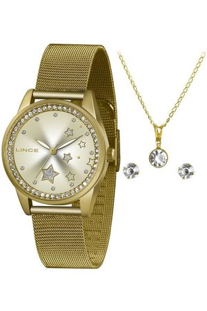Lince Mulher Pulseiras - Kit Relógio Feminino Lrgj120l Ky81c1kx Analógico + Conjunto de Semijoias | | | U