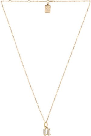 MIRANDA FRYE Colares - Gothic Charm & Van Chain Necklace in Metallic . - size B (also in C, E, F, G, I, J, K, M, N, O, P, R, T)