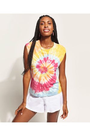 Clockhouse Regata Muscle Tee Feminina Estampada Tie Dye Decote Redondo Multicor