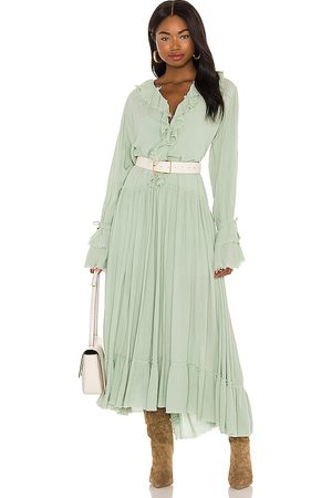 Free People Sweet Darlin Maxi Dress in Mint. - size L (also in M, S, XS)