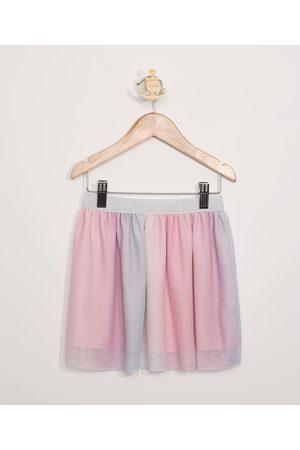 PALOMINO Saia de Tule Infantil Estampada Tie Dye Rosa