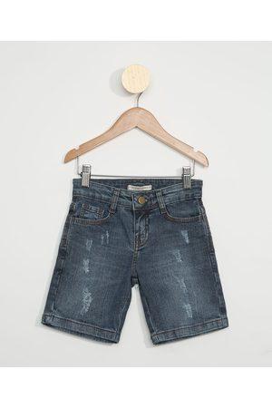 PALOMINO Bermuda Jeans Infantil Reta com Puídos Médio