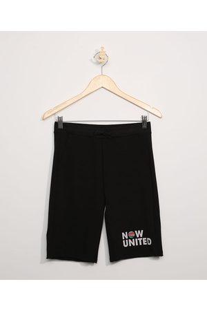 Now United Bermuda de Moletinho Juvenil Preta