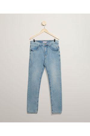 Clockhouse Homem Calça Skinny - Calça Jeans Masculina Skinny com Bolsos Claro