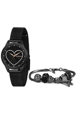 Lince Mulher Pulseiras - Kit Relógio Feminino LRN4557L KI42P1PX Analógico + Brinde | | | U