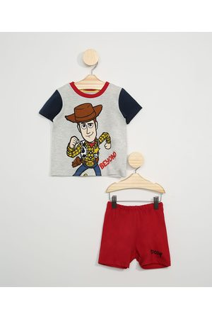Disney Pijama Infantil Toy Story Woody Manga Curta Mescla