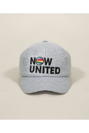 Now United Boné Juvenil Aba Curva em Moletom Mescla