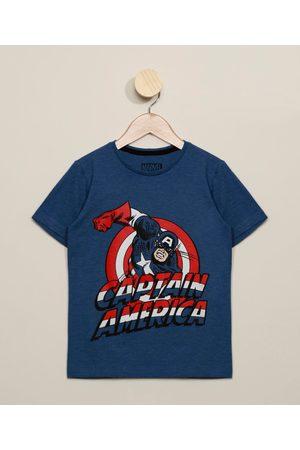 Marvel Camiseta Juvenil Capitão América Manga Curta Gola Careca
